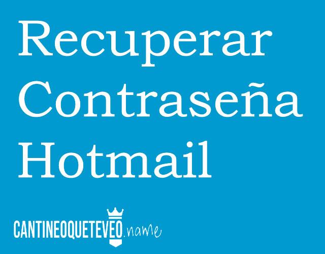 recuperar-contraseña-hotmail