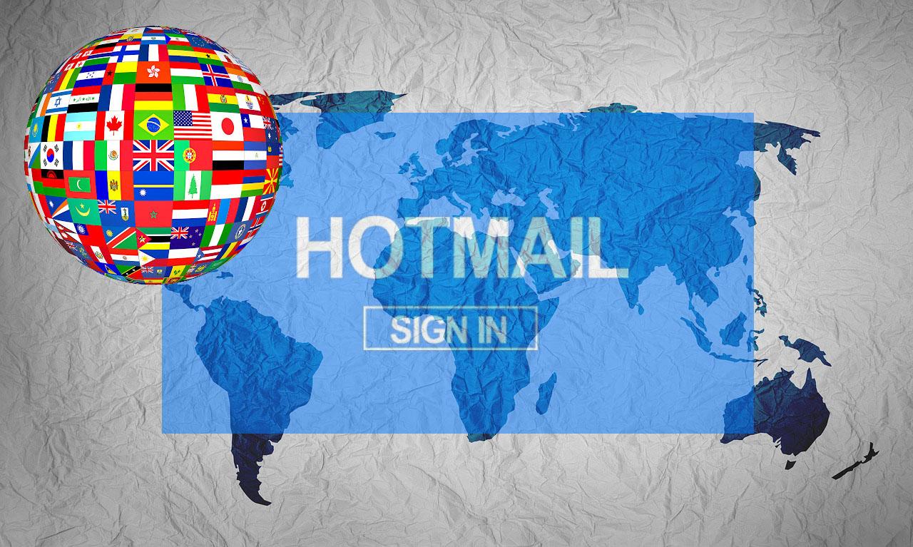 hotmail paises